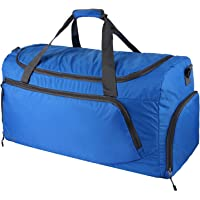 OXA Lightweight Foldable Travel Duffel Bag with Shoes Bag (Blue)