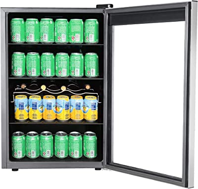 RCA RMIS1530 Freestanding Beverage Center Cooler Fridge Fits 110 Cans or 36 Wine Bottles, Black