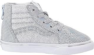 VN-0A32R3UJ0: Boys SK8-HI Zip Metallic Glitter Silver Sneakers