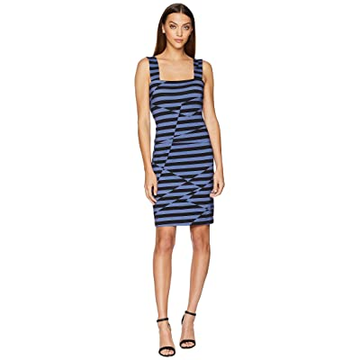 Nicole Miller Lace-Up Dress (Black/Blue) Women
