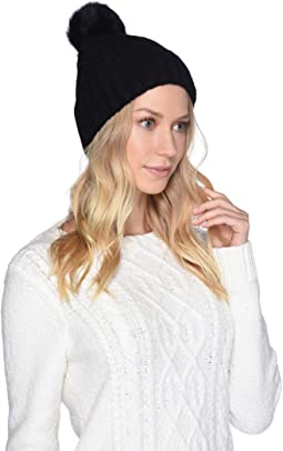 28b9747e1f47a Luxe Knit with Sheepskin Pom Hat.  52.99MSRP   75.00. Black