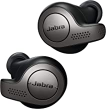 Jabra Earbuds Bluetooth in-Ear Headphones with Earphones Charging Case & One-Touch Amazon Alexa & 15 Hours Battery, Titanium Black, (Elite 65t)