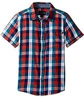 Lucky Brand Kids - Pier Short Sleeve Camp Shirt in Twill (Little Kids/Big Kids)