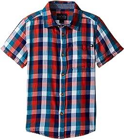 Pier Short Sleeve Camp Shirt in Twill (Little Kids/Big Kids)