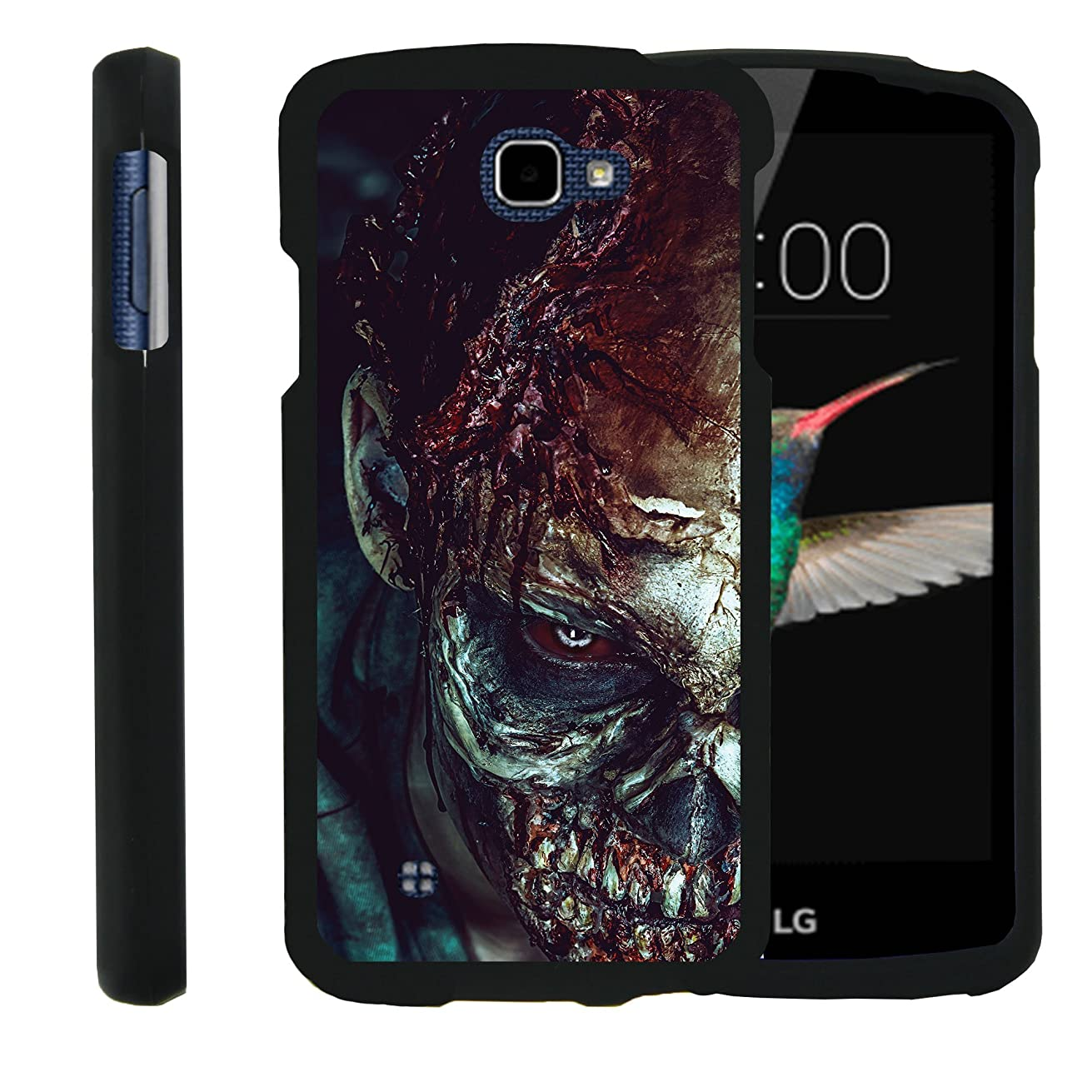 MINITURTLE Case Compatible w/LG Optimus Zone 3,LG Spree,LG K4,LG Rebel Phone Case, Perfect Slim Fit Snap on Hard Cover Haunted Design Close up Zombie
