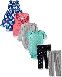 Carter's Girls' 6-Piece Jacket and Vest Set