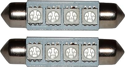 luz del techo luces umbrales de puertas luz de matricula del compartimiento del motor y del maletero AERZETIX: 10 x Bombillas azul C5W 12V 2LED SMD 31mm para iluminacion interior