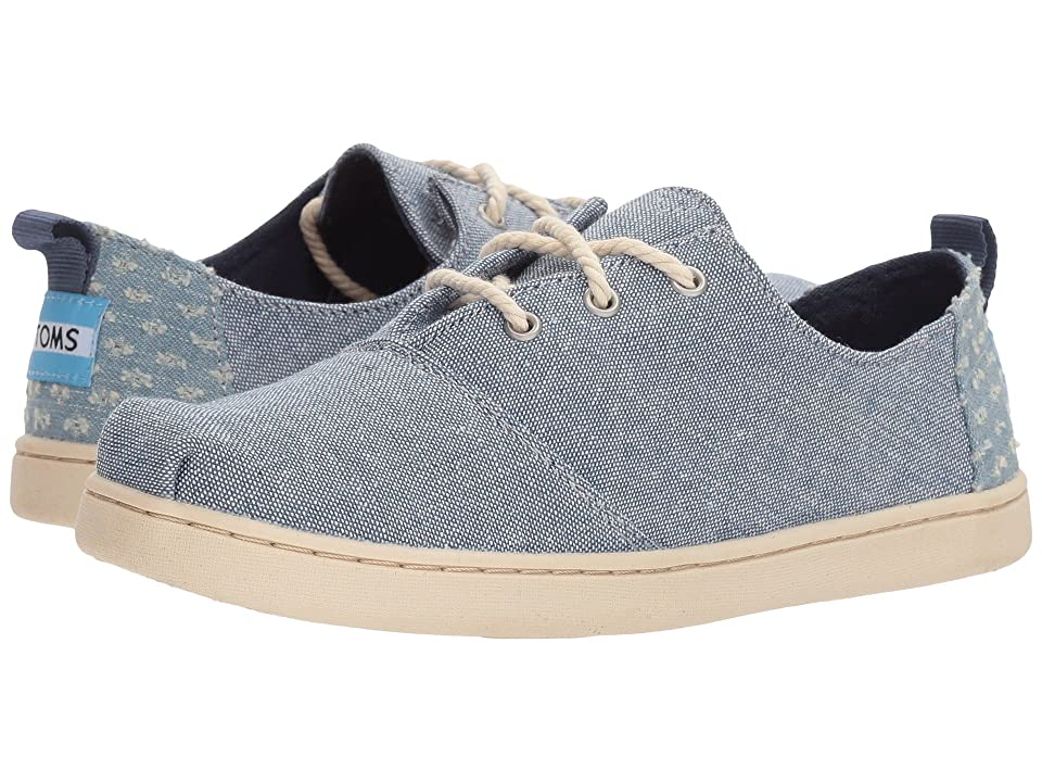 TOMS Kids Lumin (Little Kid/Big Kid) (Blue Slub Chambray) Girl
