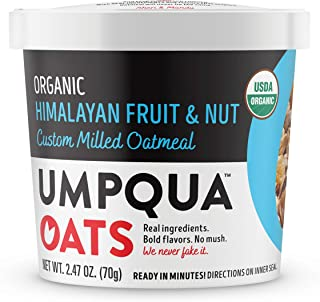 Umpqua Oats Organic Oatmeal Cups, Himalayan Fruit and Nut, 8 Count (PACKAGING MAY VARY)