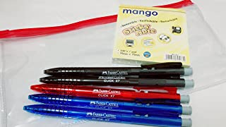 Premium Faber-Castell BALL PEN (2blue 2black 1 red) + FREE pouch + FREE sticky note | 0.5mm