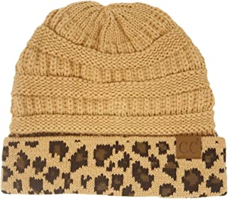 C.C CC Winter Fall Trendy Chunky Stretchy Cable Knit Beanie Hat