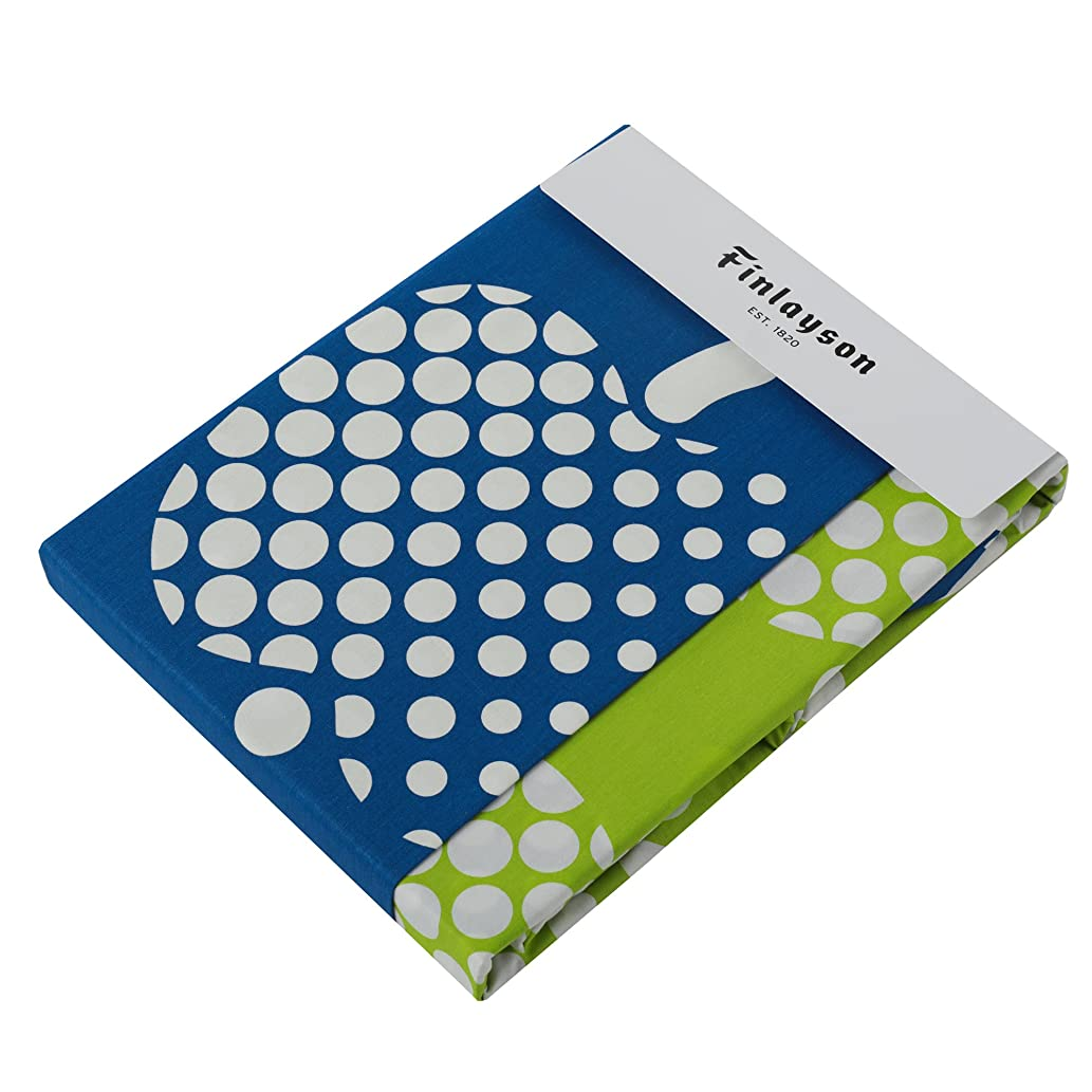 生息地均等に報酬東京西川 掛け布団カバー シングル フィンレイソン オプティネンオメナ(リンゴ)柄 綿100% クイックスナップで着脱簡単 ブルー PI08480687B