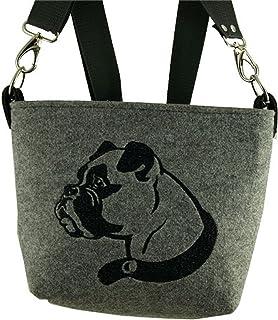 Damentasche, Handtasche, Umhängetaschen, Schultertasche, Filztasche - Motiv-Boxer