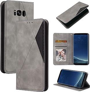 Lodroc LOYKB0500228 Galaxy S8+ (S8 Plus) hoes, TPU lederen hoes, magnetische beschermhoes [kaartenvak] [standfunctie], sto...