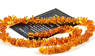 Baltic Amber Necklace for Women, Mom, Men & Adults – Headache, Migraine, Sinus, Arthritis, Carpal Tunnel, Nursing Pain Relief - 18 Inch (Honey)