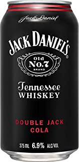 Jack Daniel's Double Jack Whiskey & Cola Premixed Cans, 375 ml (Pack Of 24)