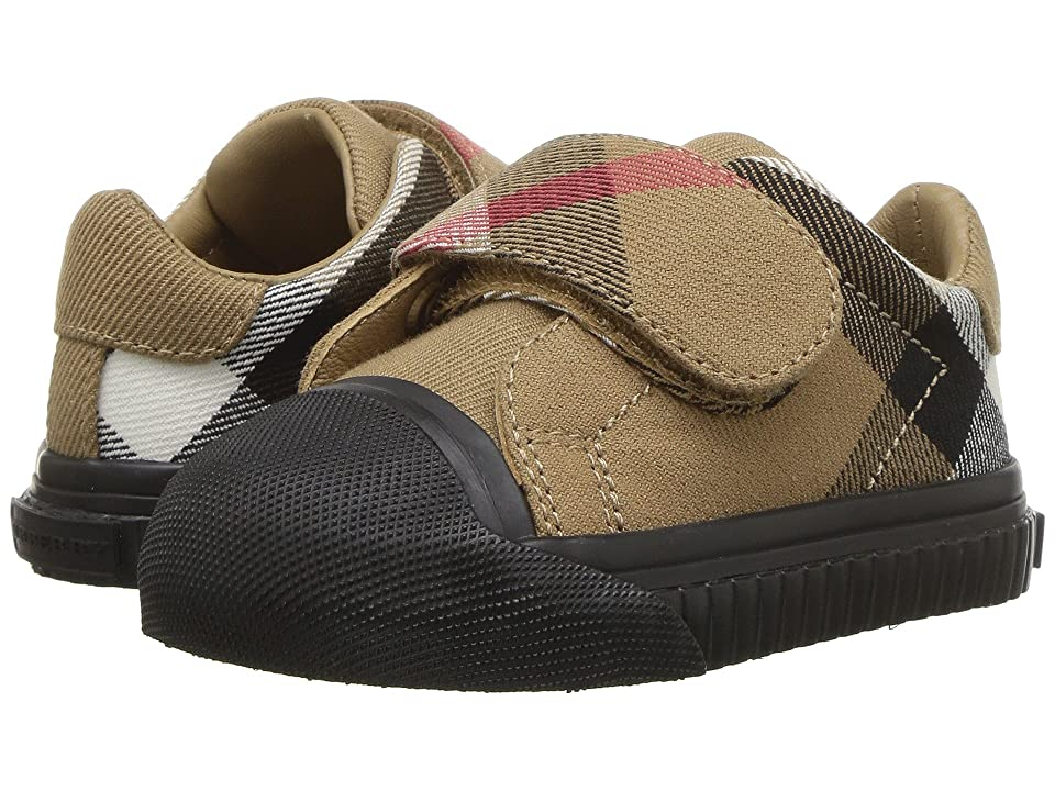Burberry Kids Beech Check Trainer (Infant/Toddler) (Classic/Black) Kid
