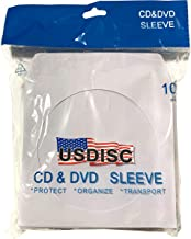 USDISC Paper Sleeves 100g Window, Flap, White, Pack of 500