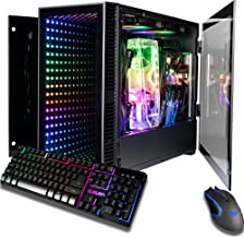 CUK Continuum Mini Monoblock Open Loop Gaming PC (Intel i9-9900K, NVIDIA GeForce RTX 2080 Ti, 32GB RAM, 2TB NVMe SSD + 2TB HDD, 650W Gold PSU, Z390I Motherboard) Tiny RGB Desktop Computer for Gamers