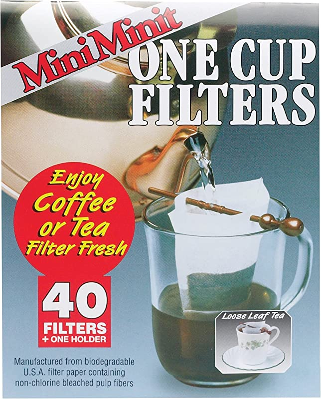 Mini Minit Coffee Filter Number 1 Size 1 Cup Capacity 40 Filters And 1 Holder