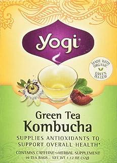 Yogi Herbal Green Tea Kombucha - 16 Tea Bags