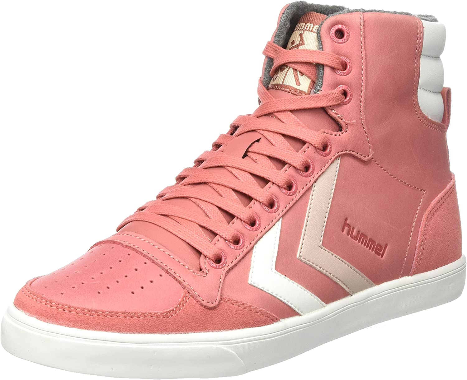 Hummel Women's Slimmer Stadil Duo Oiled High Hi-Top Trainers