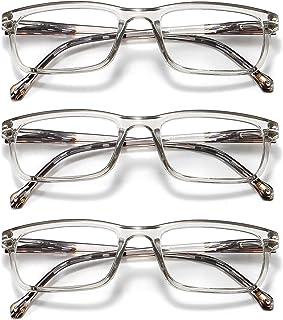GOBOOMAN Bril leesbril met veerscharnier, leesbril 1.0 1.5 2.0 2.5 3.0 3.5 dames heren computer leesbril heldere lens bril...