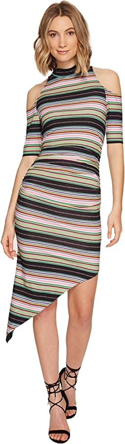 KP Festival Stripe Cold Shoulder Dress