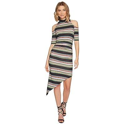Nicole Miller KP Festival Stripe Cold Shoulder Dress (Multi) Women