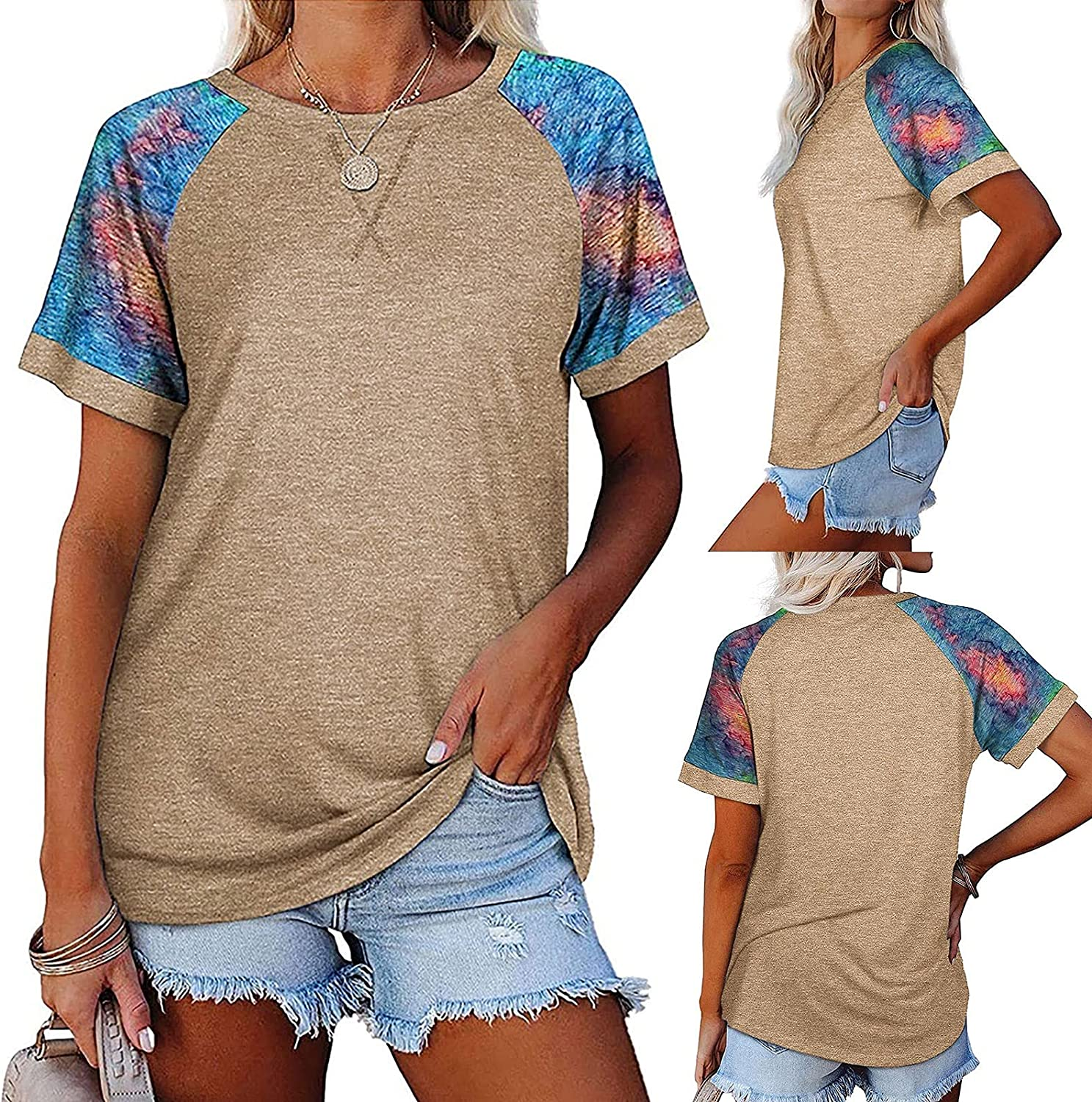 T Shirt for Women trend rank Summer Casual Short Tees Color Sleeve Max 54% OFF Sp Loose