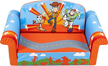 Marshmallow Furniture 2-in-1 Flip Open Foam Couch Bed Sleeper Sofa Kid's Furniture for Ages 18 Months and Up, Toy Story