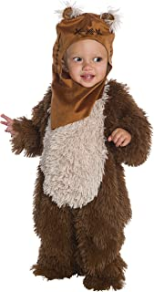 Rubie's Kid's Star Wars Classic Ewok Deluxe Plush Costume Romper Baby Costume, Color As Shown, Infant