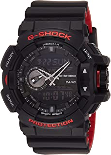 Casio Men's Black Dial Silicone Band Watch - GA-400HR-1ADR