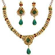 Touchstone Indian Bollywood Traditional Studded Look Rhinestone Pretty Wedding Designer Jewelry...
