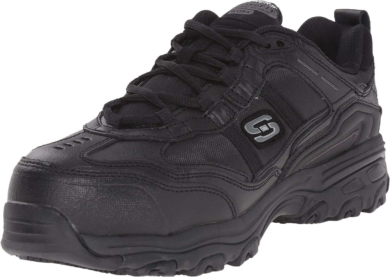 Skechers for Work Women's D'Lite Slip Resistant Toliand Composite Toe Work shoes