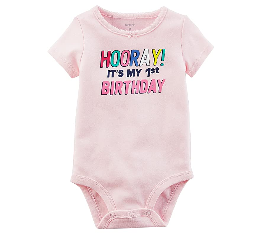 Carter's Baby Girls' 1st Birthday Collectible Bodysuit