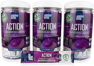Amino VITAL Action – Fermented Vegan BCAAs Amino Acid Powder + Electrolytes in Single Serve Packets   Keto Friendly Supple...