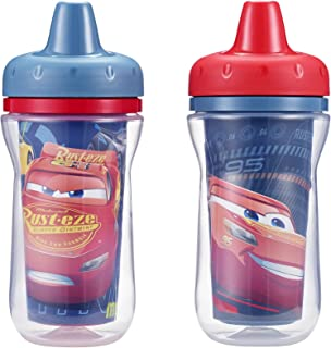 The First Years Insulated Sippy Cups, Cars, 9 Ounce (Pack of 2)