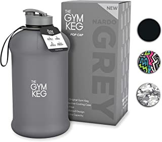 The Gym Keg Sports Water Bottle (2.2 L) Insulated | Half Gallon | Carry Handle | Big Water Jug for Sport, Crossfit, | Large Reusable Water Bottles | Ecofriendly, Tritan BPA Free Plastic, Leakproof