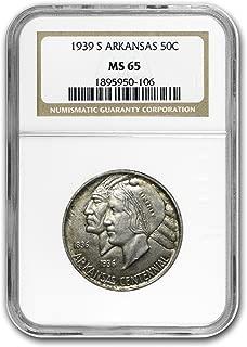 1939 S Arkansas Centennial Half Dollar MS-65 NGC Half Dollar MS-65 NGC