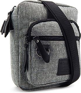 ekavale - Męska torba na ramię mała – torba na ramię na telefon komórkowy dla mężczyzn – Messenger Crossbody Bag – torba u...