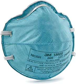 3M Particulate Surgical Mask N95 Cup Earloops Small - Case of 120, Blue