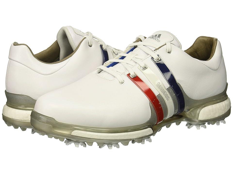 adidas Golf Tour360 2.0 (Footwear White/Scarlet/Night Sky) Men