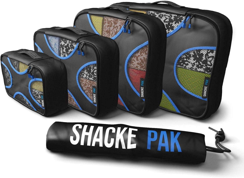 Shacke Pak - 5 Set Packing Cubes - Travel Organizers with Laundry Bag
