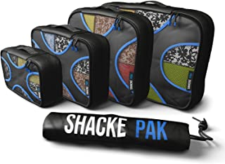 Shacke Pak - 5 Set Packing Cubes - Travel Organizers with Laundry Bag