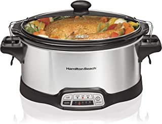 Hamilton Beach Stay or Go Portable 6-Quart Programmable Slow Cooker With Lid Lock,..