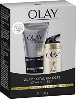 Olay Total Effects 7 In One Foaming Cleanser 50g + Total Effects 7 in one Day Cream Normal SPF 15 Starter Set, 12 g