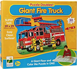 The Learning Journey Giant Fire Truck 2 in 1 Floor Color Puzzles