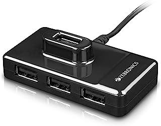 ZEBRONICS Zeb-100 4 Ports USB Hub for Laptop, PC Computers, Plug & Play, Backward Compatible