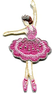 Ballerina dancer ballet dance applique embroidered applique iron-on patch S-1501